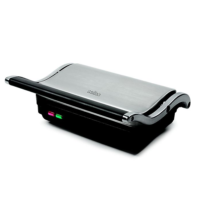 Alternate image 1 for Salton Stainless Steel Panini Maker