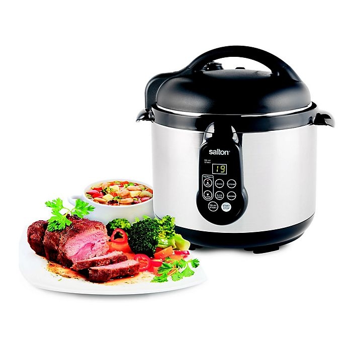 Alternate image 1 for Salton Stainless Steel 5-In-1 Electronic Pressure Cooker