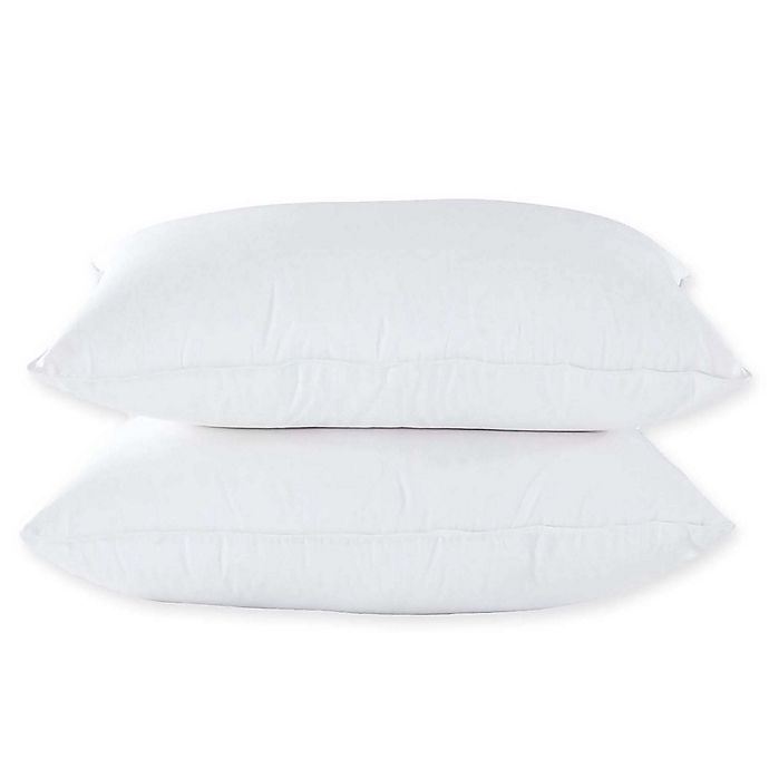 Alternate image 1 for Puredown Luxury Cotton Sateen and Goose Down Standard/Queen Pillows in White (Set of 2)