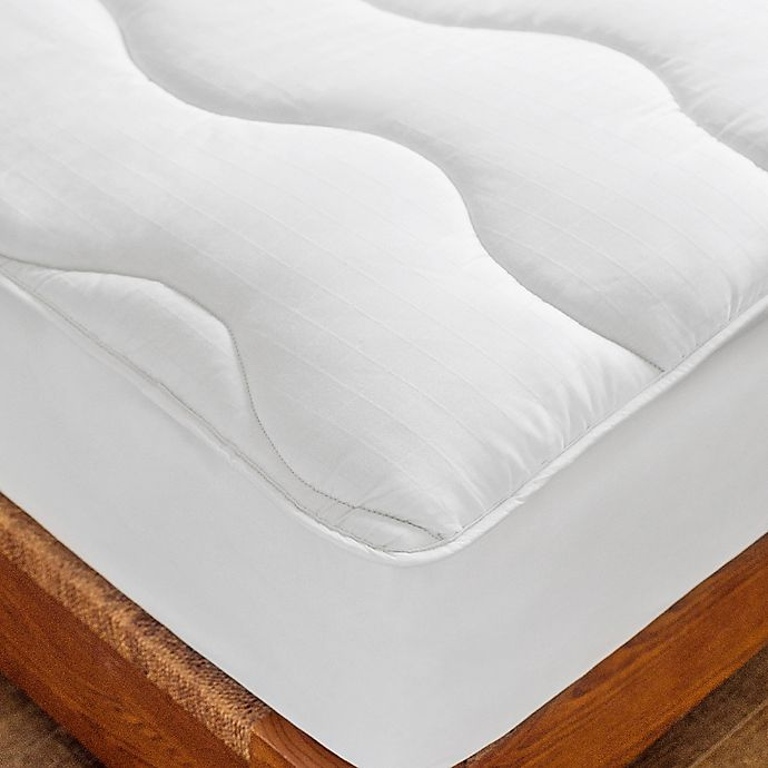 Alternate image 1 for St. James Home Twice-As-Nice Reversible Full Mattress Pad in White