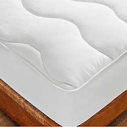 St. James Home Twice-As-Nice Reversible Mattress Pad in White