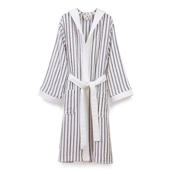 Linum Home Textiles Alev Turkish Cotton Striped Hooded Bathrobe ... 4d613f169