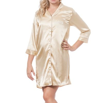 Cathy's Concepts Large/Extra Large Satin Nightshirt In Blush by Bed Bath And Beyond