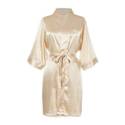 Cathy's Concepts Large/Extra Large Luxury Satin Robe In Blush by Bed Bath And Beyond