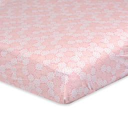 Just Born® Dream Floral Fitted Crib Sheet in Pink/White