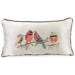 Jordan Manufacturing 5 Birds Decorative Oblong Pillow in Wine