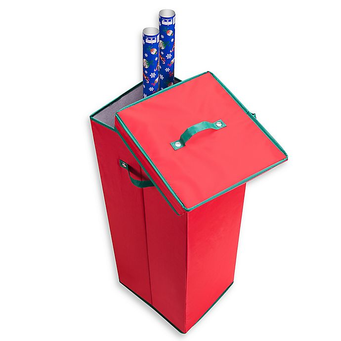 Alternate image 1 for Elf Stor Wrapping Paper Storage Box in Red