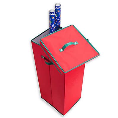 Elf Stor Wrapping Paper Storage Box in Red
