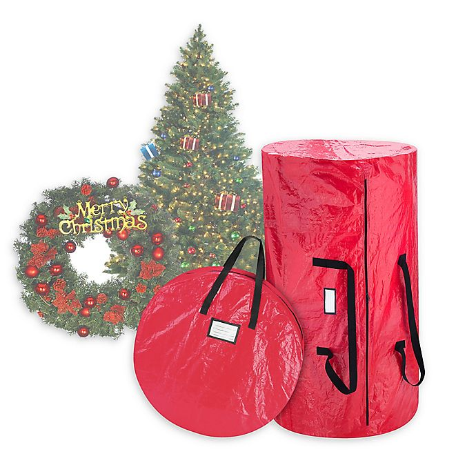 Alternate image 1 for Elf Stor 2-Piece Wreath Storage Bag and Christmas Tree Storage Bag Set