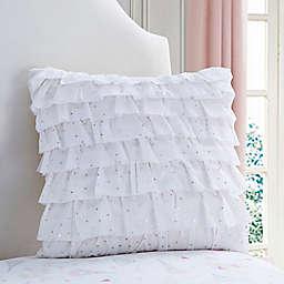 Amelia Square Throw Pillow in White