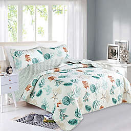Great Bay Home Key West Reversible Quilt Set