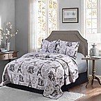 Paris Reversible Full/Queen Quilt in Neutral