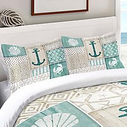 Laural Home® Coastal Retreat Standard Pillow Sham in Blue