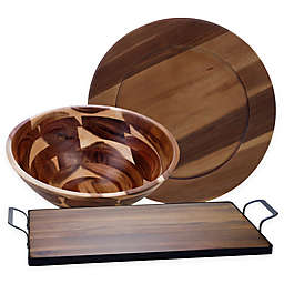 Certified International Acacia Wood Serveware Collection
