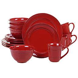 Certified International 16-Piece Orbit Dinnerware Set in Red