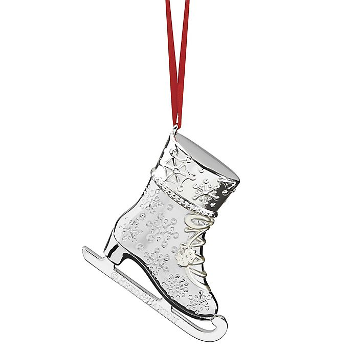 Alternate image 1 for Reed & Barton Figural Ice Skate Christmas Ornament