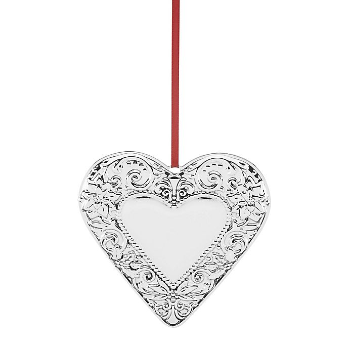 Reed & Barton Annual Heart Christmas Ornament | Bed Bath ...