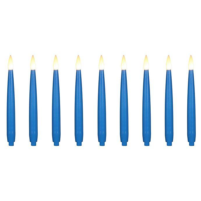 Alternate image 1 for LED Hanukkah Candles in Blue (Set of 9)