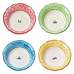 Euro Ceramica An American in Paris 4-Piece Soup Bowl Set