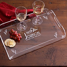 All Seasons Personalized Acrylic Serving Tray