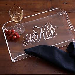 Monogram Classics Personalized Acrylic Serving Tray