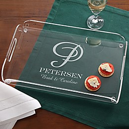 Our Monogram Personalized Acrylic Serving Tray