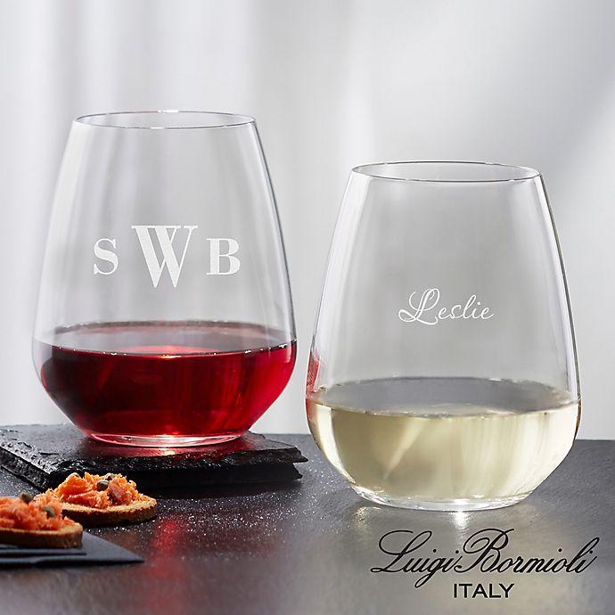 Alternate image 1 for Luigi Bormioli Crescendo SON.hyx® Personalized Stemless Wine Glass