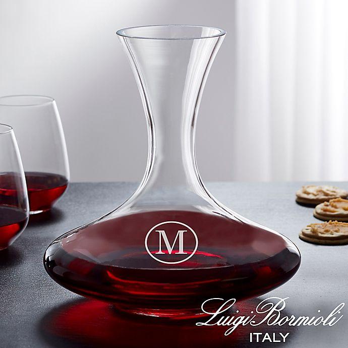 Alternate image 1 for Luigi Bormioli Crescendo Personalized 68 oz. Captain's Wine Decanter