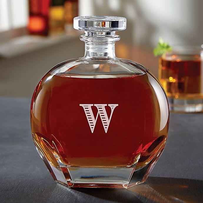 Alternate image 1 for Luigi Bormioli Puccini Personalized Engraved Whiskey Decanter