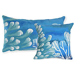 Liora Manne Visions Reef Indoor/Outdoor Throw Pillow in Blue
