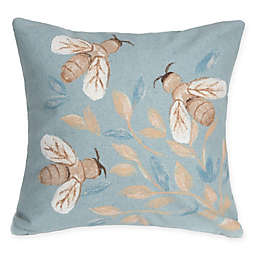 Liora Manne Visions Bees Indoor/Outdoor Throw Pillow in Blue