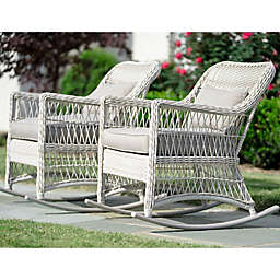 Leisure Made Pearson Rocking Chair in Antique White (Set of 2)