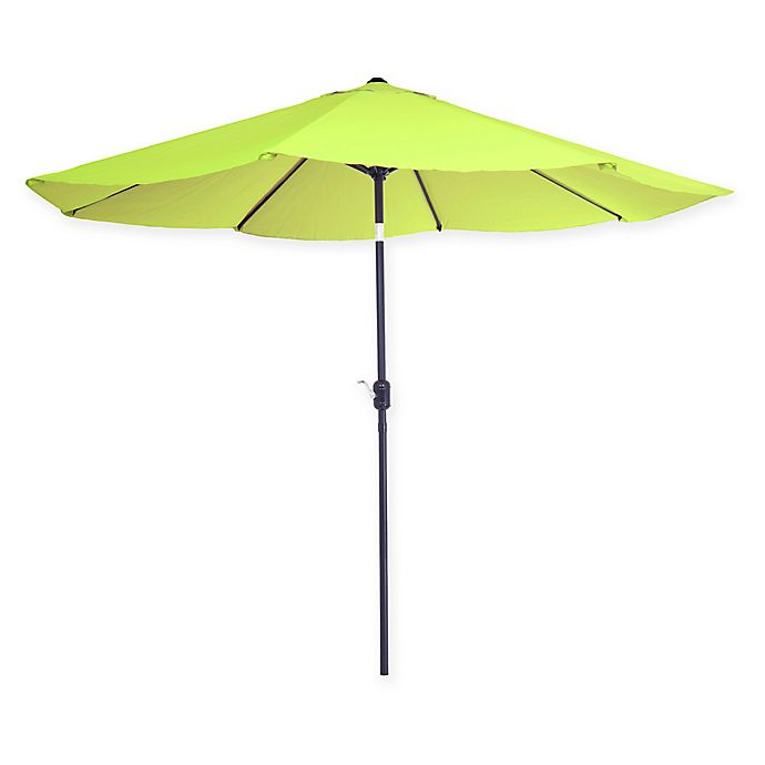Alternate image 1 for Pure Garden 10-Foot Patio Market Umbrella with Auto Tilt and Crank in Green