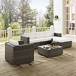 Crosley Sea Island Patio Sofa Set in Grey (6-Piece)