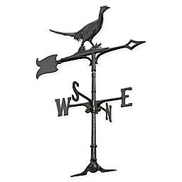 Whitehall Products 30-Inch Pheasant Accent Weathervane in Black