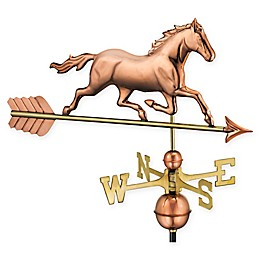 Good Directions Trotting Horse Weathervane in Pure Copper