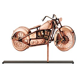 Good Directions Motorcycle Copper Table Top Sculpture