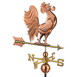 Good Directions Crowing Rooster Weathervane in Copper