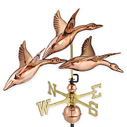 Good Directions Geese in Flight Weathervane in Copper
