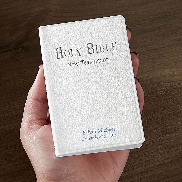 Tiny Testament Baptism Bible in White | Bed Bath and Beyond
