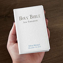Tiny Testament Baptism Bible in White