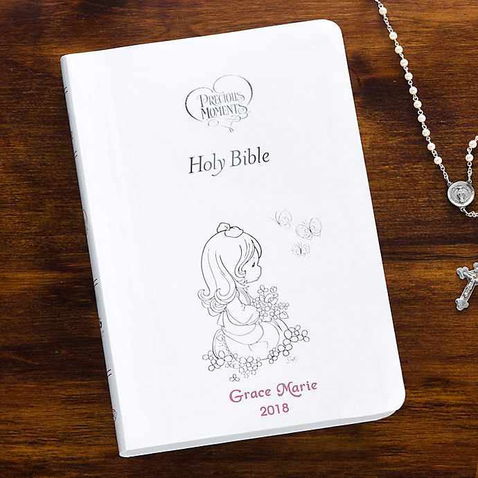 Precious Moments® Children's Bible in White | Bed Bath & Beyond