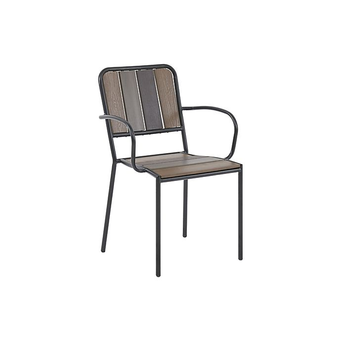 Alternate image 1 for INK+IVY™ Fargo Outdoor Armchairs in Brown (Set of 2)