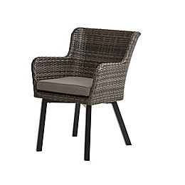 INK+IVY Pacifica Outdoor Arm Chairs in Dark Grey (Set of 2)