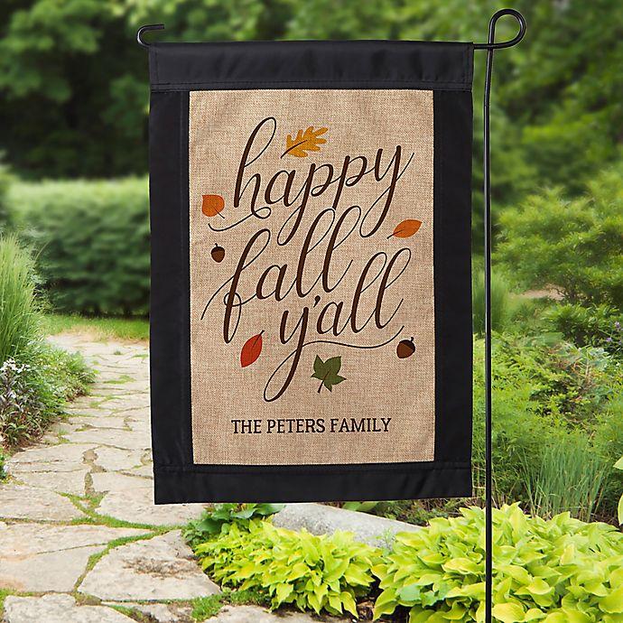 Alternate image 1 for Happy Fall Y'All Burlap Garden Flag
