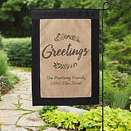 Cozy Home Burlap Garden Flag