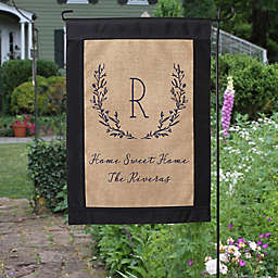 Farmhouse Floral Burlap Garden Flag