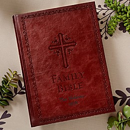 Family Legacy Bible in Burgundy