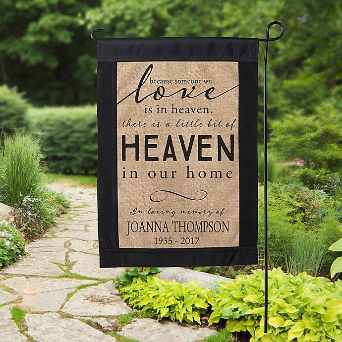 Alternate image 1 for Heaven In Our Home Burlap Garden Flag