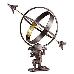 Good Directions Atlas Armillary Sundial in Pewter/Brass
